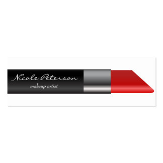 Red lipstick Makeup Unique Professional Pack Of Skinny Business Cards