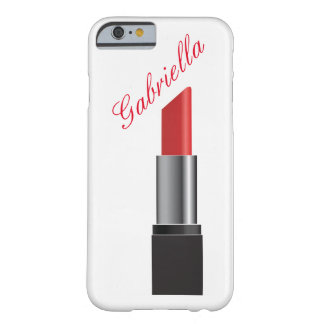 Red Lipstick Monogram Barely There iPhone 6 Case