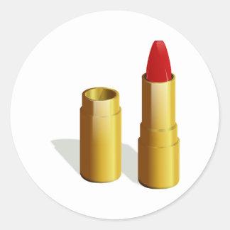 Red Lipstick Round Sticker