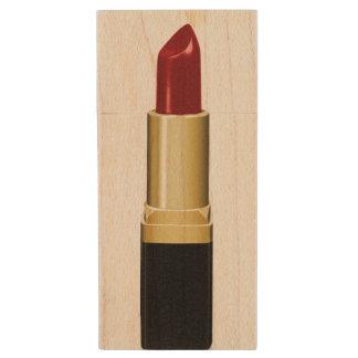 red lipstick wood USB 3.0 flash drive