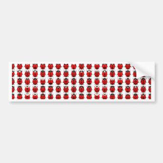 Red Little Ladybugs Bumper Sticker