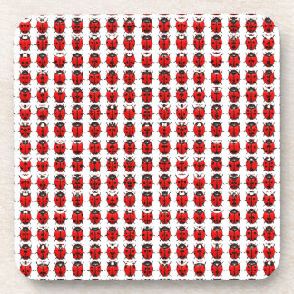 Red Little Ladybugs Coaster