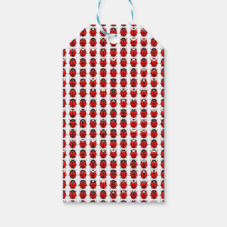 Red Little Ladybugs Gift Tags