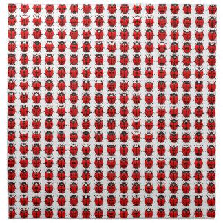 Red Little Ladybugs Napkin