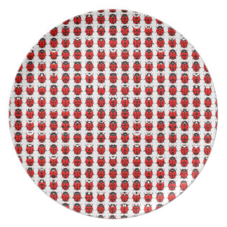 Red Little Ladybugs Plate