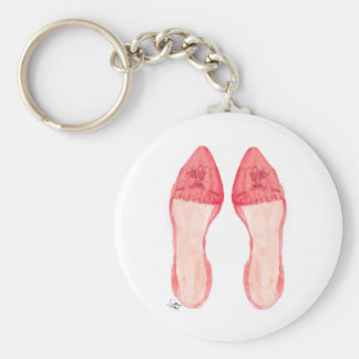 Red Loafers Shoe Art Keychain