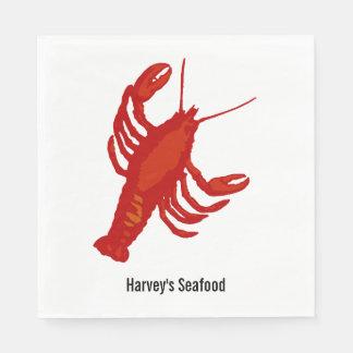 Red Lobster Seafood Restaurant Paper Napkins