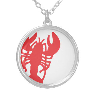 Red Lobster Silver Plated Necklace