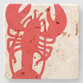 Red Lobster Stone Coaster