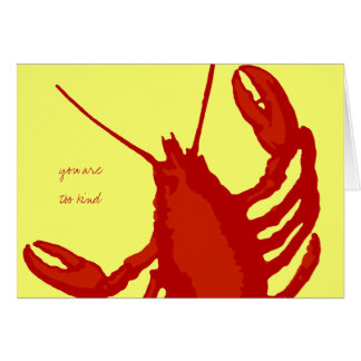 Red Lobster Yellow Custom Thank You Note Card