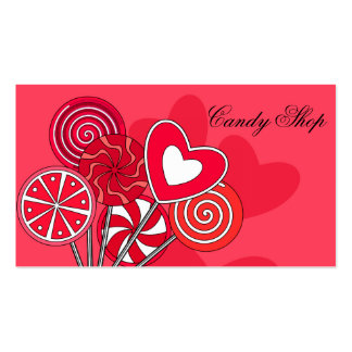 Red Lollipop Candy Shop Bakery Business Card