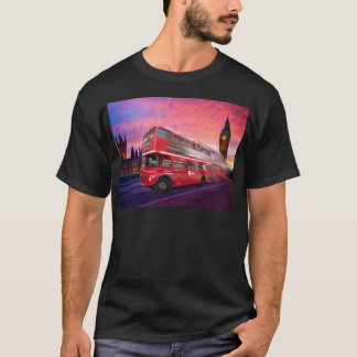Red London bus and Big Ben T-Shirt