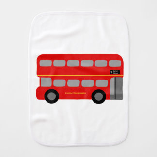 Red London Bus Burp Cloth