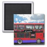 Red London Bus Double Decker Fridge Magnet