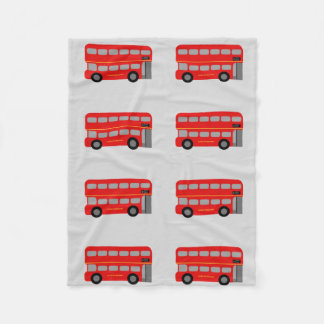 Red London Bus Fleece Blanket