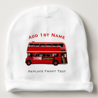 Red London Bus Themed Baby Beanie