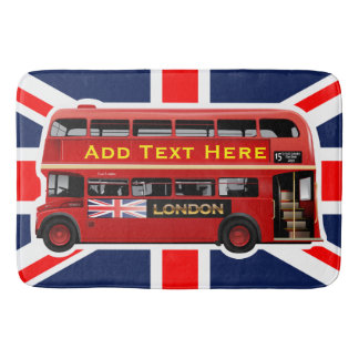 Red London Bus Themed Bath Mat