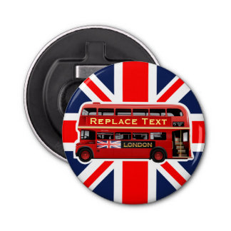 Red London Bus Themed Bottle Opener