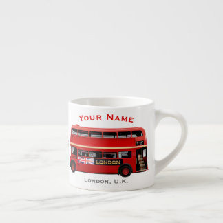 Red London Bus Themed Espresso Cup