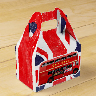 Red London Bus Themed Favour Box