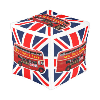 Red London Bus Themed Pouf