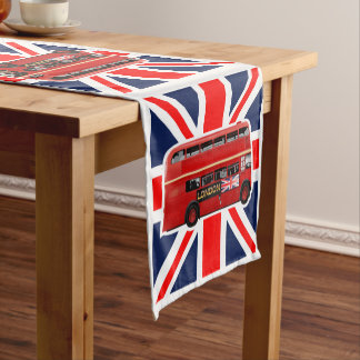 Red London Bus Themed Short Table Runner