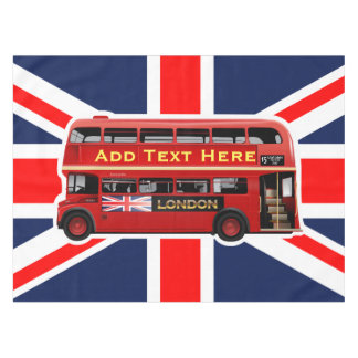 Red London Bus Themed Tablecloth