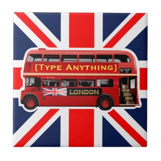Red London Bus Themed Tile