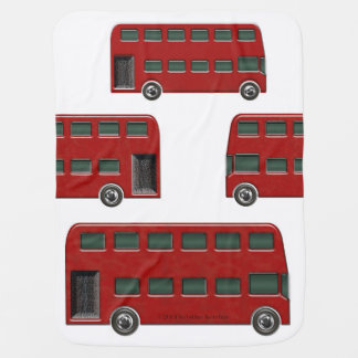 Red London Double-Decker Bus Baby Boy Blanket