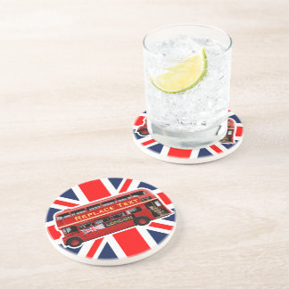 Red London Double Decker Bus Coaster