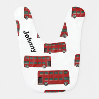 Red London Double-Decker Bus Print Bib