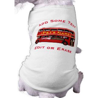 Red London Double Decker Bus Sleeveless Dog Shirt