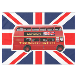Red London Double Decker Bus Tablecloth