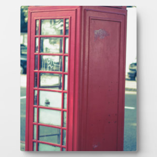 Red London Telephone Box Display Plaques
