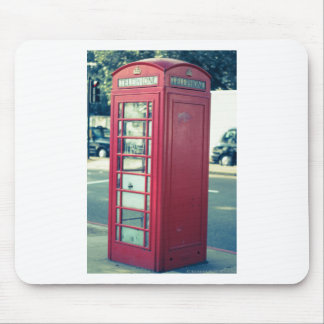 Red London Telephone Box Mouse Pad