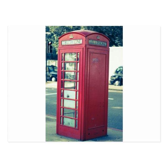Red London Telephone Box Postcard