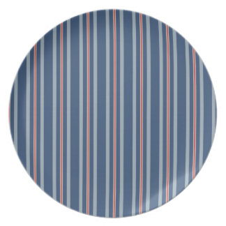 red lone stripe melamine  plate