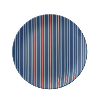 red lone stripe porcelain   plate