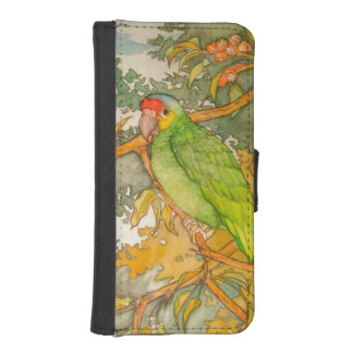 Red Lored Amazon Parrot iPhone SE/5/5s Wallet Case
