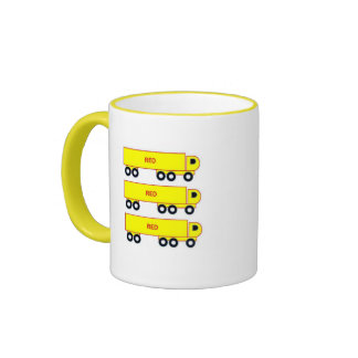 red lorry yellow lorry mug cup