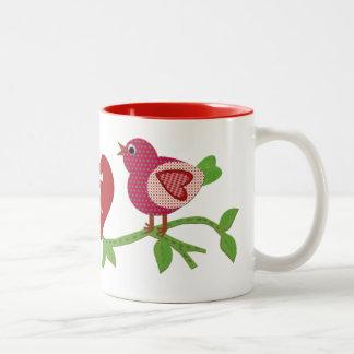 Red Love Birds Mug