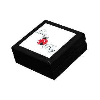 Red Love Bug - Ladybug Small Square Gift Box