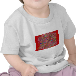 red love flower tee shirts