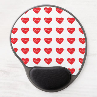 Red Love Heart Gel Mouse Pad