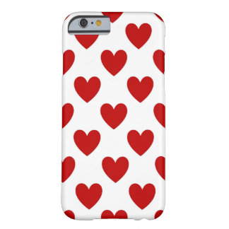 Red Love Hearts on White, iPhone 6/6s Case