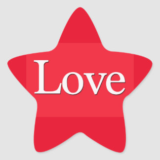Red Love Star Sticker
