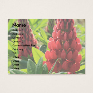Red Lupins Business Cards