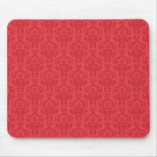 Red luxury damask pattern mousemat,  mousepad