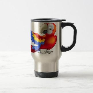 Red macaw parrot illustration mug