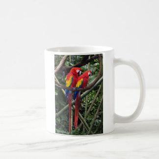 red macaws coffee mugs